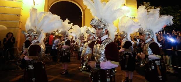 Los armaos de la Macarena, en la salida de la Semana Santa 2017 de Sevilla