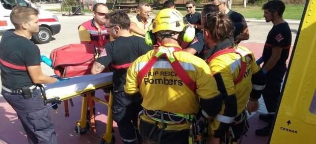 Efectos del Consorcio trasladan a la mujer rescatada