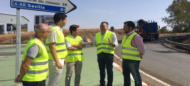 El PP reclama mejoras en la carretera que une Valverde y La Palma del Condado