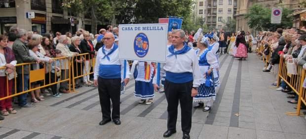La Casa de Melilla participa por primera vez en la Ofrenda de Frutos