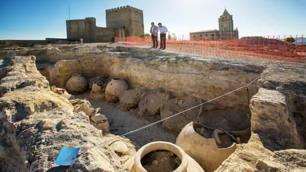 Zona del recinto de La Mota donde se han realizado las excavaciones.
