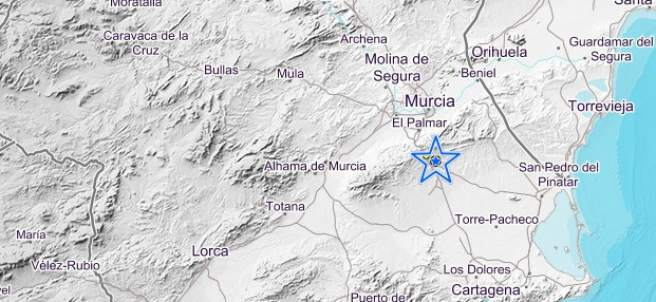Mapa geográfico de Murcia.