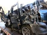 Imagen del coche accidentado