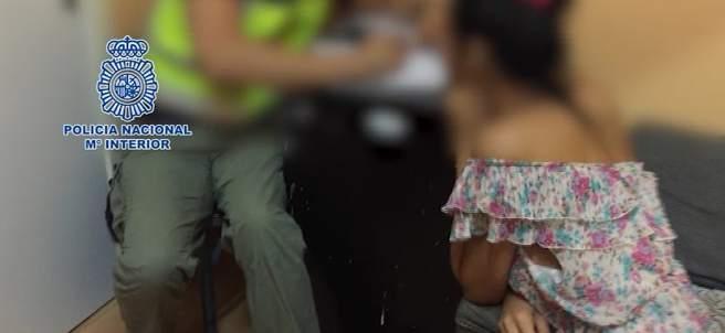 Imagen de una víctima explotada sexualmente.