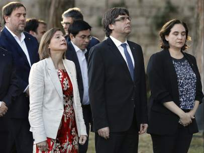 Forcadell, Puigdemont y Colau