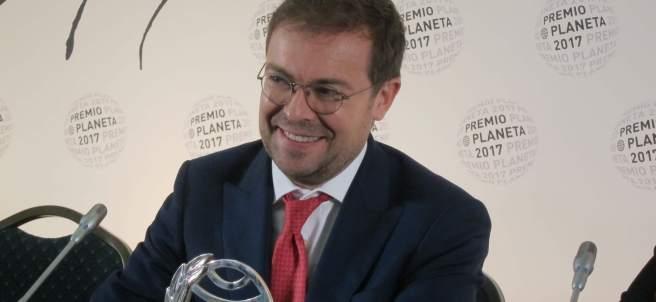 Javier Sierra, en rueda de prensa tras ganar el Premio Planeta