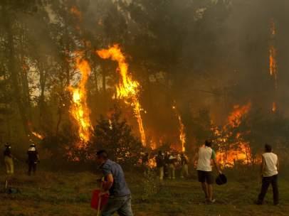Fuego en Galicia