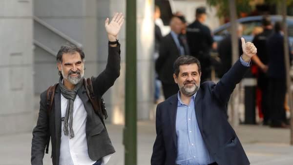 Jordi Cuixart y Jordi Sánchez