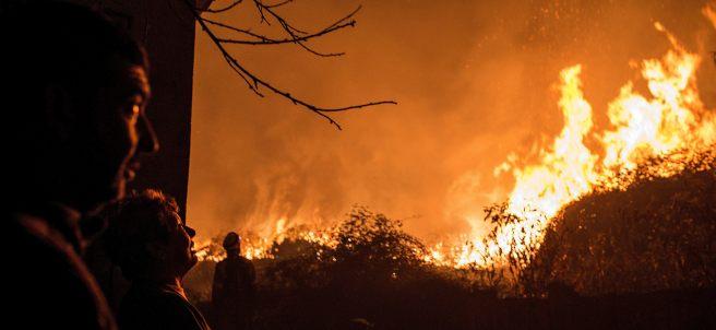 Observando el fuego en Galicia