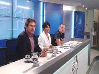 Pello Urizar, Maddalen Iriarte y Unai Urruzuno