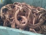 Cable de cobre incautado en la operación
