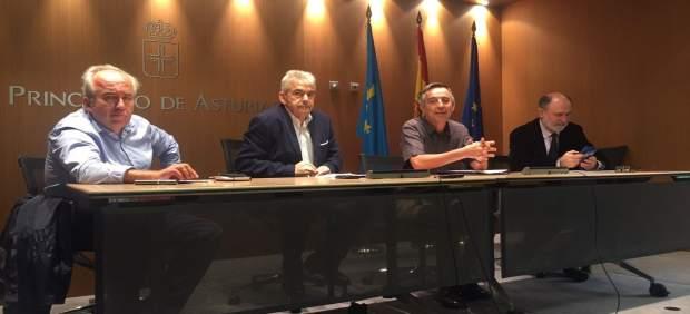 Francisco Carreño, Belarmino Fernández, Carlos Martínez y Jesús Casas
