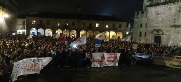 Protesta de 'Lume, nunca máis' en Santiago