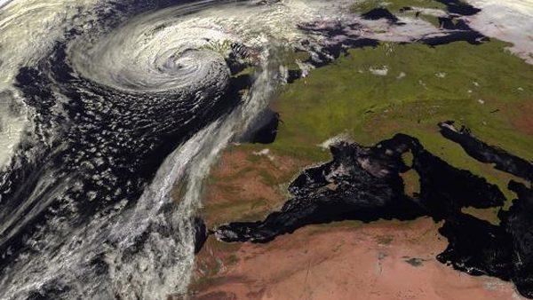 El ojo del huracán Ofelia