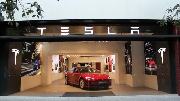 Tienda de Tesla en Barcelona