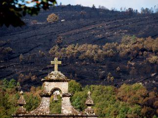 Paisaje calcinado en Ourense