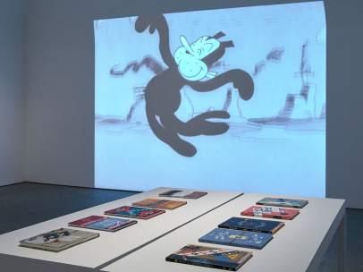 Vista de la sala de la exposición de George Herriman 'Krazy Kat es Krazy Kat es Krazy Kat'