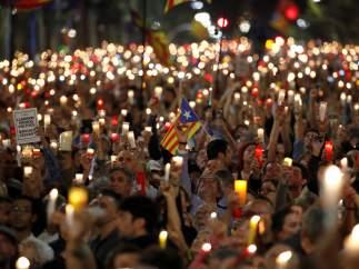Barcelona pide la liberación de Jordi Cuixart y Jordi Sànchez
