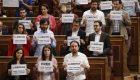 Bronca de Pastor por pedir libertad para 'los Jordis'