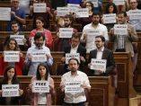 Pastor abronca a los diputados de Unidos Podemos y PdCat por pedir libertad para 'los Jordis'