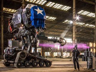 Grabando uno de los robots