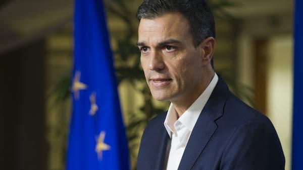 Pedro Sánchez, secretario general del PSOE, en Bruselas.