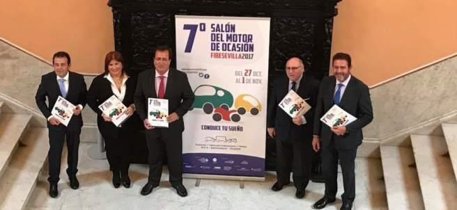 Presentación del Salón el Motor de Ocasión, en Sevilla.