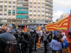 Moment de la manifestació en la Plaça Sant Agustí