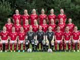 La selección danesa femenina