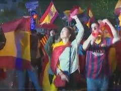 Unas 2.000 personas se manifiestan en Barcelona contra el independentismo