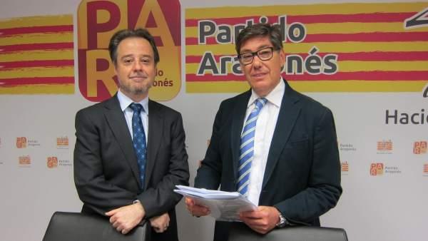 Sergio Larraga y Arturo Aliaga, del Partido Aragonés