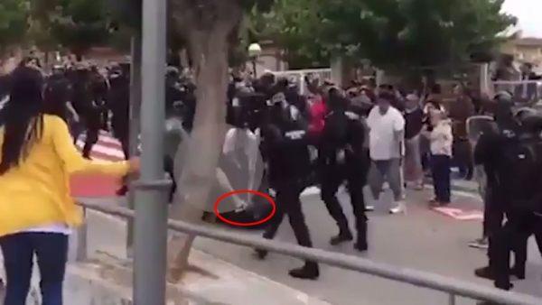 Detenido por dar una patada a un Guardia Civil el 1-O