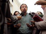 Pablo Iglesias hace declaraciones a la prensa