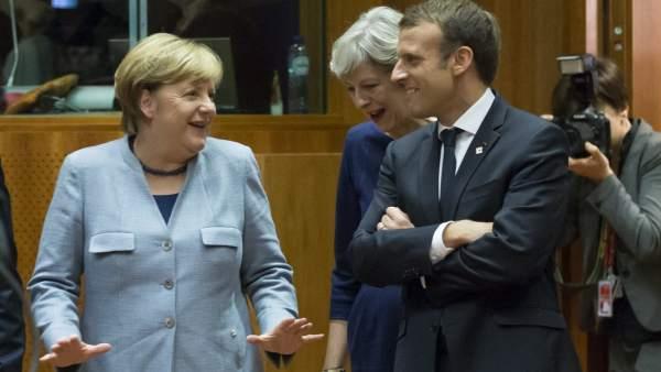 Angela Merkel y Emmanuel Macron