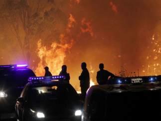 Guardia Civil incendio Chandebrito (Pontevedra)