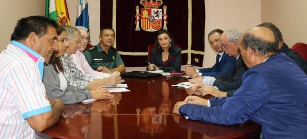Reunión entre la Subdelegación, Guardia Civil y comunidades de regantes.