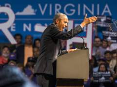 Obama vuelve a hacer campaña desde que dejó la Casa Blanca