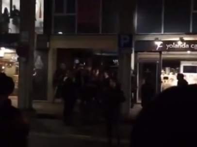 Escrache a Albiol en Barcelona