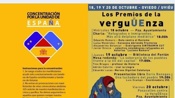 Concentraciones en Oviedo durante Premios Princesa de Asturias 2017