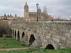 Vista de Salamanca desde el Puente Romano.