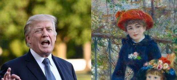 Trump dice que tiene un Renoir en su casa y los expertos le aseguran que es falso