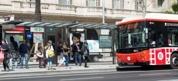Autobús de TMB en Barcelona.