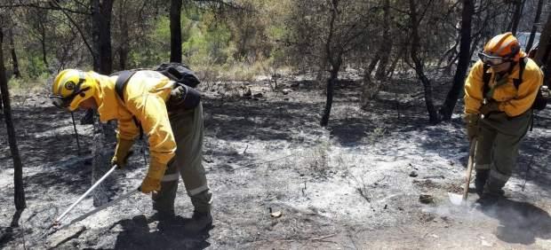 Trabajo de Divalterra en el incendio de la Sierra Calderona
