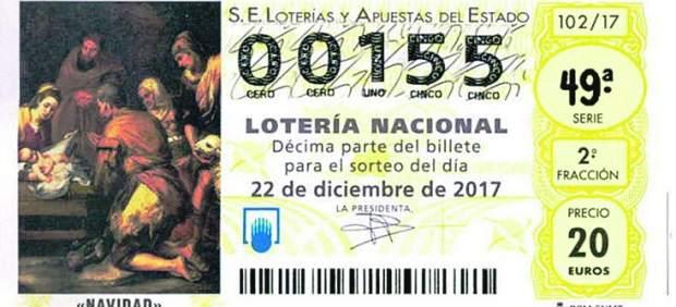Imagen del décimo de lotería 00155