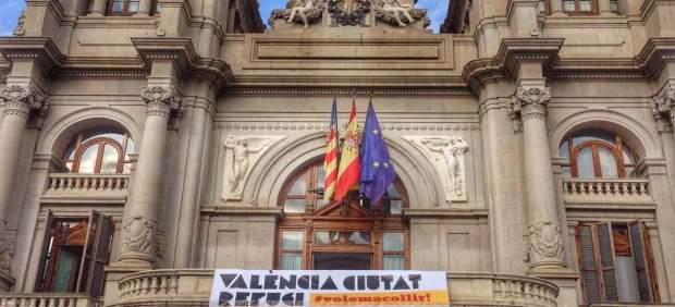Campaña refugiados en el Ayuntamiento de Valencia