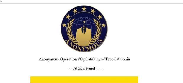 Anonymous hackea la página web del Tribunal Constitucional
