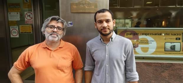 Daniel González Rojas (a la derecha), con Juan Carlos Galindo
