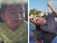 El angustioso rescate de un niño de 2 años atrapado en un coche