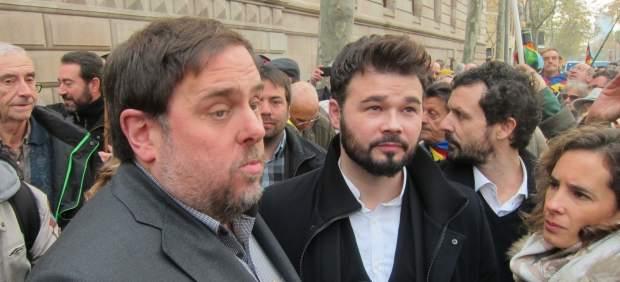 Oriol Junqueras y Gabriel Rufián