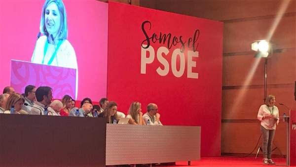 Irene García en el Congreso Provincial del PSOE en Cádiz